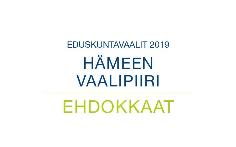 Ehdokkaat Hämeen vaalipiiri
