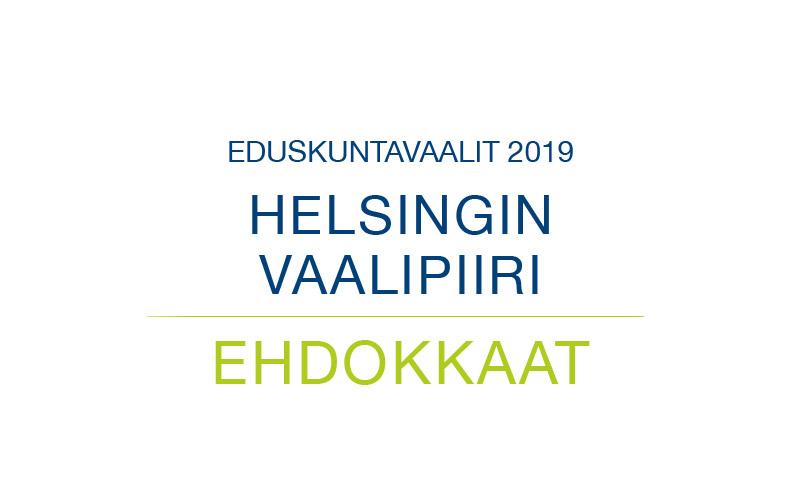 Ehdokkaat Helsingin vaalipiiri