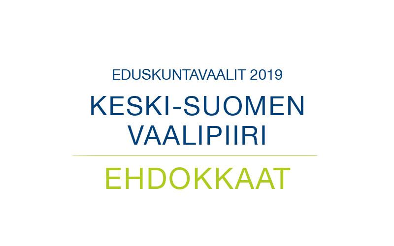 Ehdokkaat Keski-Suomen vaalipiiri