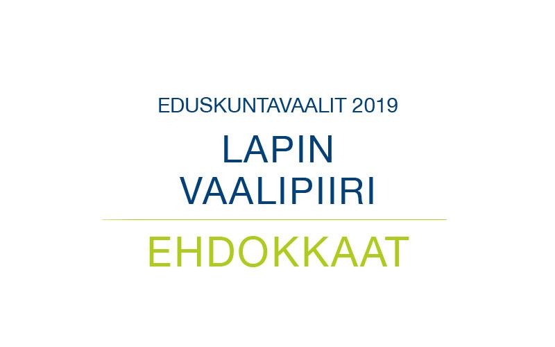 Ehdokkaat Lapin vaalipiiri