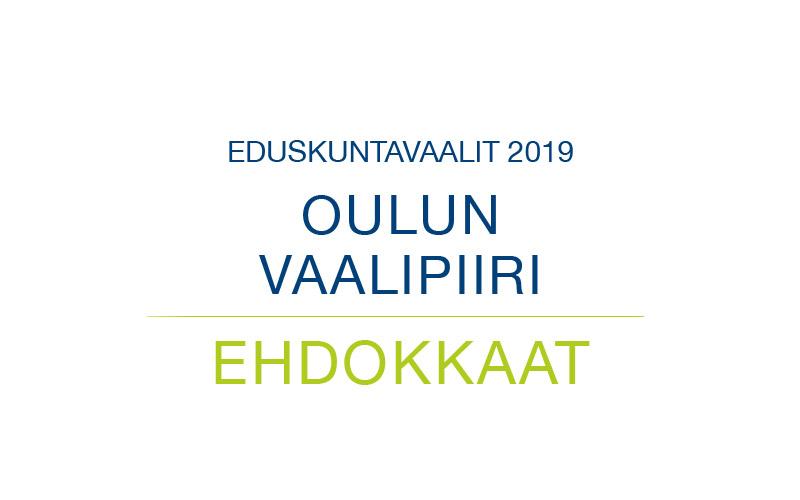 Ehdokkaat Oulun vaalipiiri