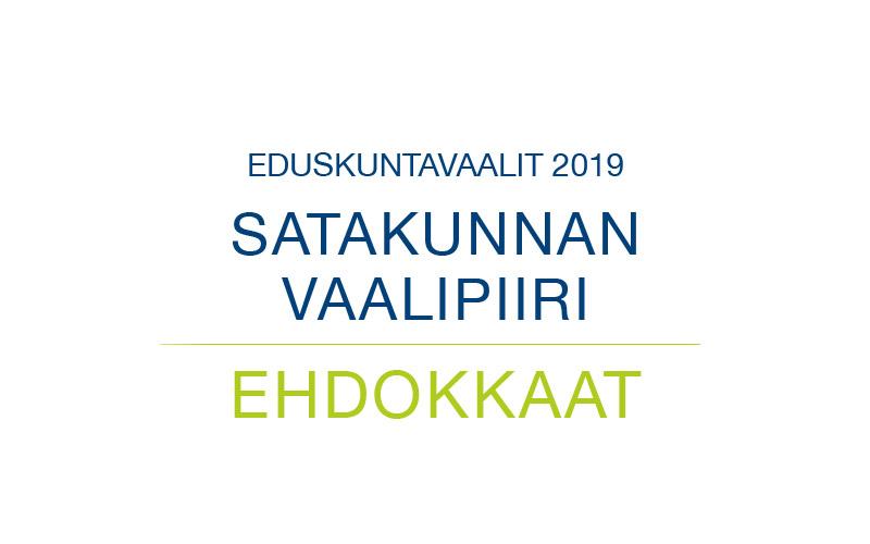 Ehdokkaat Satakunnan vaalipiiri