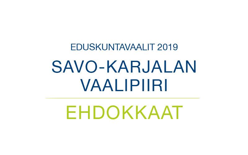 Ehdokkaat Savo-Karjalan vaalipiiri