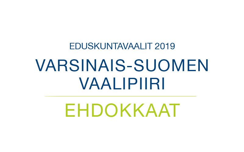 Ehdokkaat Varsinais-Suomen vaalipiiri